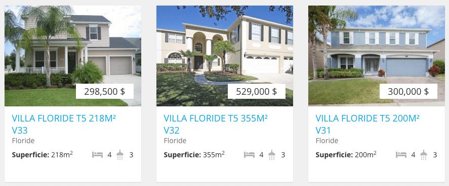 exemples de 3 villas en vente en Floride