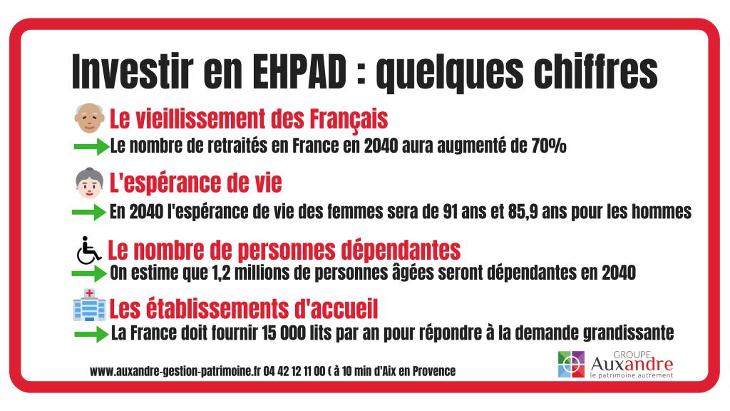 infographie sur l'intérêt d'un investissement en ehpad en France