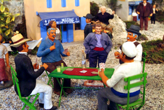 santons de provence représentant les personnages de la trilogie de Pagnol
