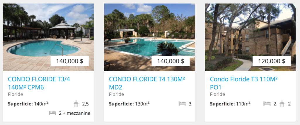 selection 3 condominiums à vendre à orlando en floride